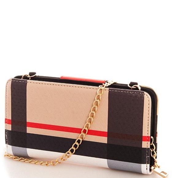 Alba Handbags - Tartan Check Long Wallet with Chain~ Last One